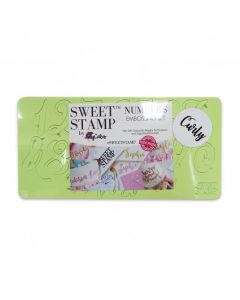 SWEET STAMP   Curly Numbers & Symbols Embossing Set