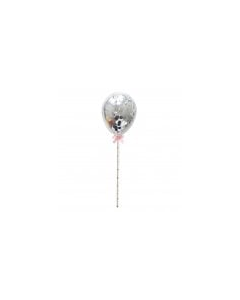 Silver Confetti Cake Balloons - Pack of 5