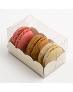 Macaroon box with White Insert 80x50x50mm (pack of 10)