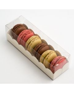 Macaroon box with White Insert 160x50x50mm (pack of 10)