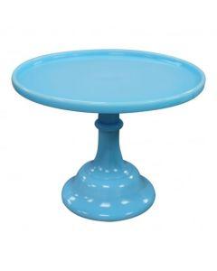 MOSSER   Robin's Egg Blue - Glazed Milk Glass Cake Stand - Choose A Size