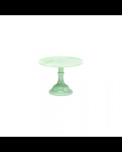 Mosser Jadeite Green - 12 Inch Glazed Milk Glass Cake Stand