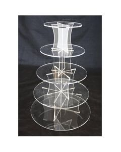 5 Tier Round Perspex Cupcake Stand