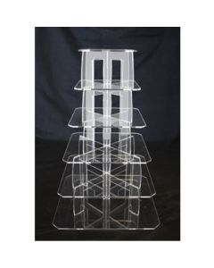 5 Tier Square Perspex Cupcake Stand 4mm