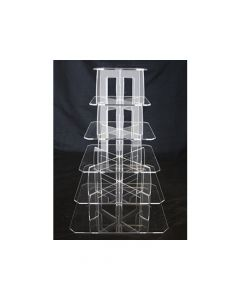6 Tier Square Perspex Cupcake Stand 4mm