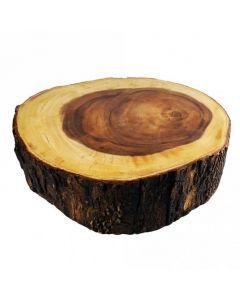 "4"" Deep 14"" Wide Acacia Wood Slice Cake Stand"