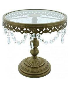 11 Inch Gold Shabby Chic Cake Stand