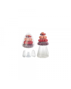 Mini Macaron Pyramid Display Stand 4 Tiers