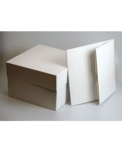 "6""X6""X5"" Stapleless Cake Box & Seperate Lid (pack of 5)"