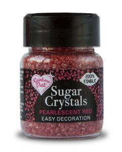 RAINBOW DUST SUGAR CRYSTALS - PEARLESCENT RED