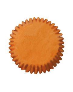 Orange Plain Printed Baking Cases - 54