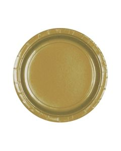 Gold Party Plates - Paper