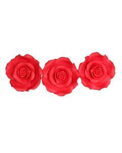 SugarSoft Rose Strawberry 63mm - Box of 8