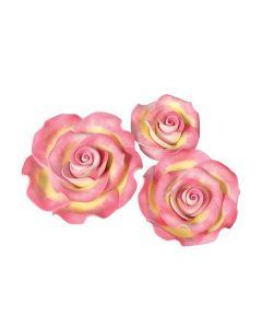 SugarSoft® Roses - Marbled - Pink & Gold - Mixed Box - Box of 12