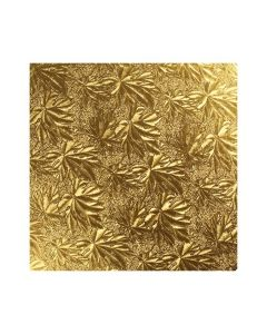 10'' (254mm) Gold Maple Leaf Double Thick Card Square (3mm thick) - Pack of 5
