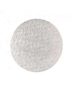 """12"""" Round Silver Drum - Single"""