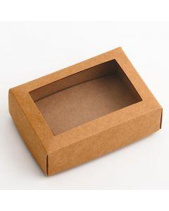 35812 - Rustic Kraft Rectangular Chocolate Box 130x90x45mm