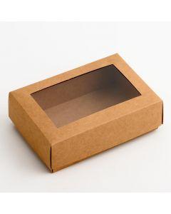 35813 - Rustic Kraft Rectangular Chocolate Box 165x110x55mm