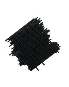 "6"" Black Plastic Cake Pop Sticks (pack of 25)"