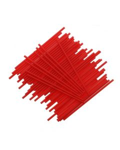 "6"" Red Plastic Cake Pop Sticks (pack of 25)"