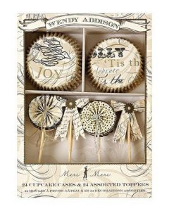 Wendy Addison 24 Cupcake Cases & 24 Assorted Toppers