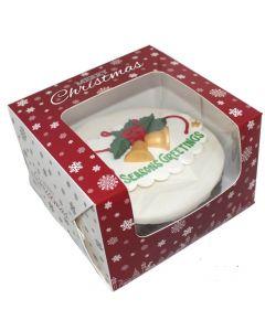 "10""X10""X5"" Christmas Snowflake Design Cake Box (pack of 5)"