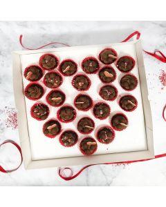 24 Heart Cupcake Box and Divider (Single)