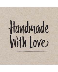 Square 'Handmade With Love' Sticker Label - Roll of 100