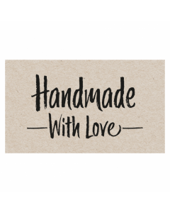 Rectangle 'Handmade With Love' Sticker Label - Roll of 100