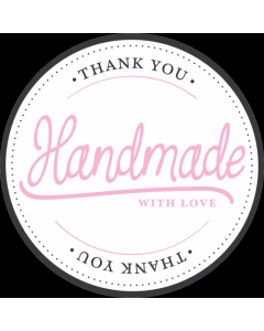 White 'Handmade With Love' Sticker Labels - Roll of 100