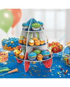 Amscan Rocket Cake Stand - 3 Tier - Single