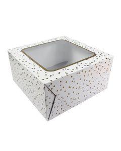 Metallic Spot Cake Box 10''