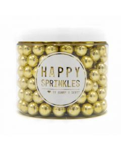 Happy Sprinkles `Metallic Gold Medium Edible Choco Sprinkles` 90g