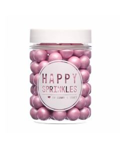 Happy Sprinkles `Pink Matt Medium Edible Choco Sprinkles` 90g