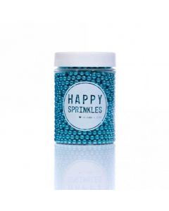 Happy Sprinkles Blue Edible Metallic Pearls 90g