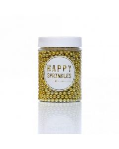 Happy Sprinkles Gold Edible Metallic Pearls 90g