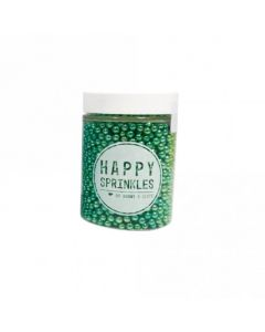 Happy Sprinkles Green Edible Metallic Pearls 90g