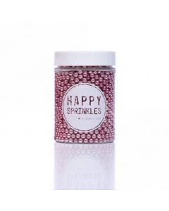 Happy Sprinkles Pink Edible Metallic Pearls 90g