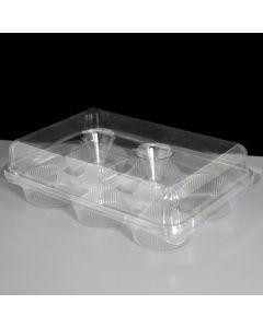 6 Cupcake Clear Plastic Pods (pack of 10)