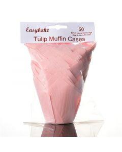 Pink Tulip Cupcake Case - Pack of 50