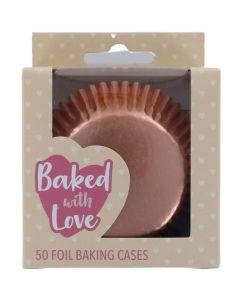 BWL - Rose Gold Foil Baking Cases - 50 Pack