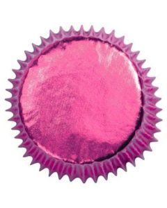 Hot Pink Foil Cupcake Baking Cases (case of 500)