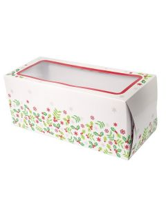 "8"" Holly Log Cake Christmas Box (pack of 5)"