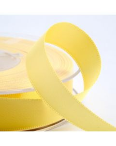 25mm Satin Ribbon x 2M - Lemon
